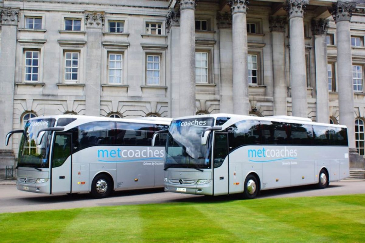 Two silver MET coaches
