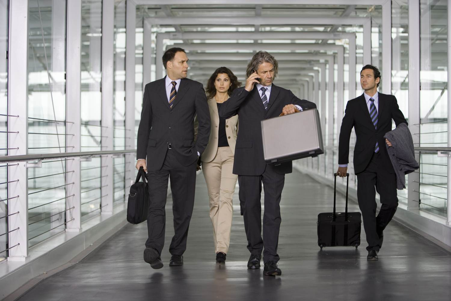 business people at airport