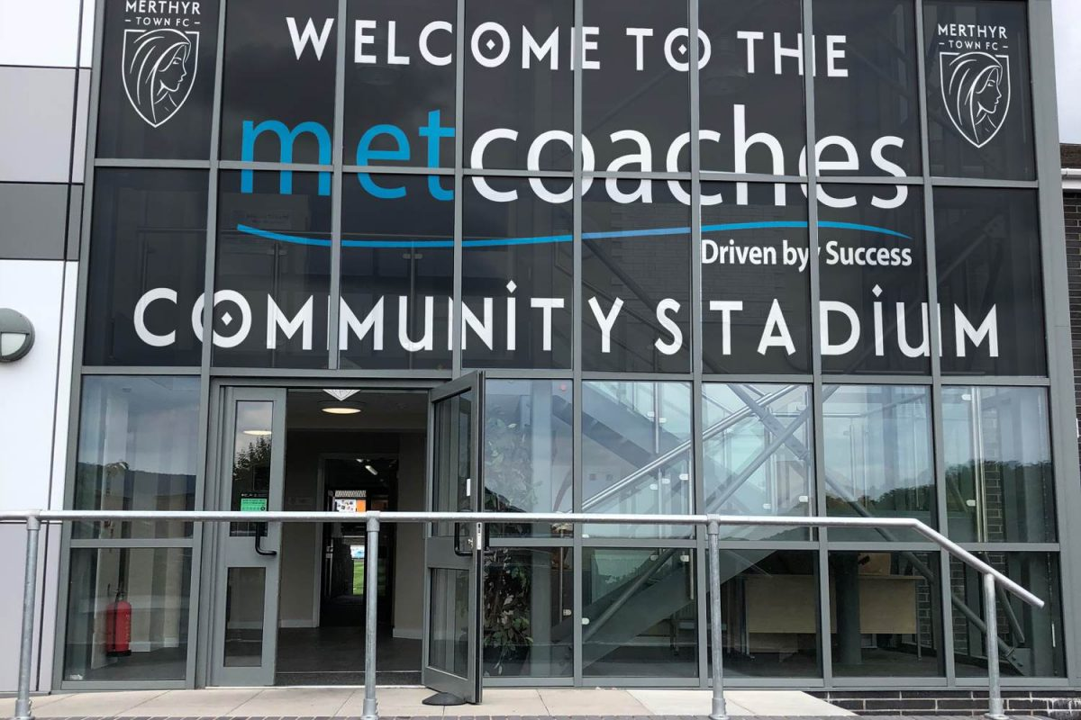Merthyr Town FC's new building sponsored by MET Coaches