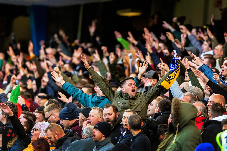 Football fans at a football match