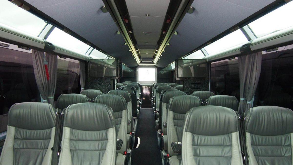 Interior of Saracens' new coach