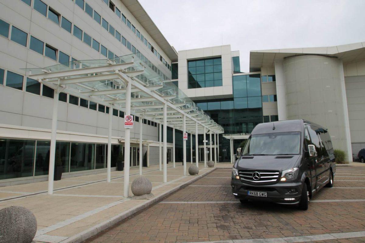Black 19-seater minibus