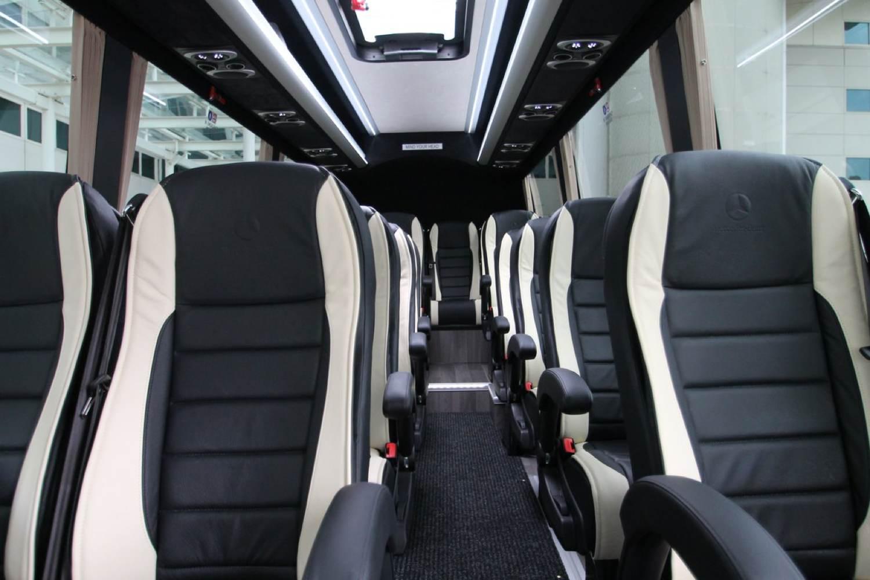 Interior of new 19 seater minibus