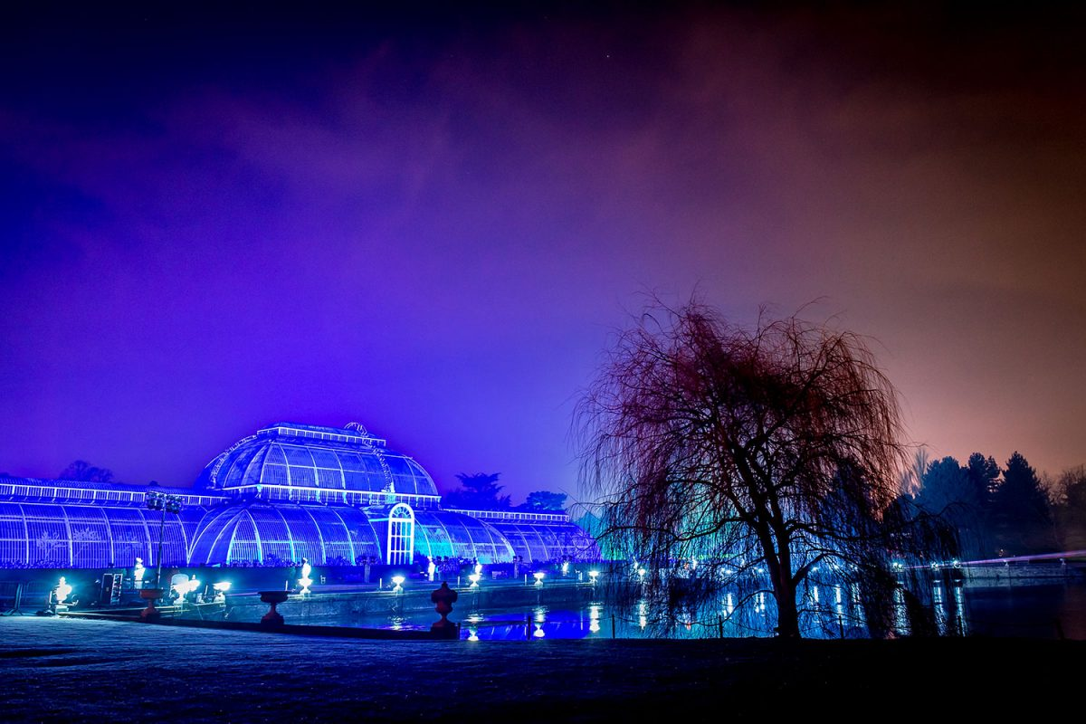 Pavilion of Kew Gardens in Christmas time