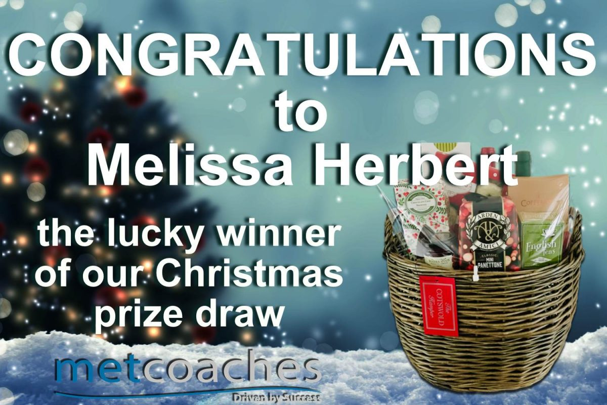 Christmas prize draw winner image