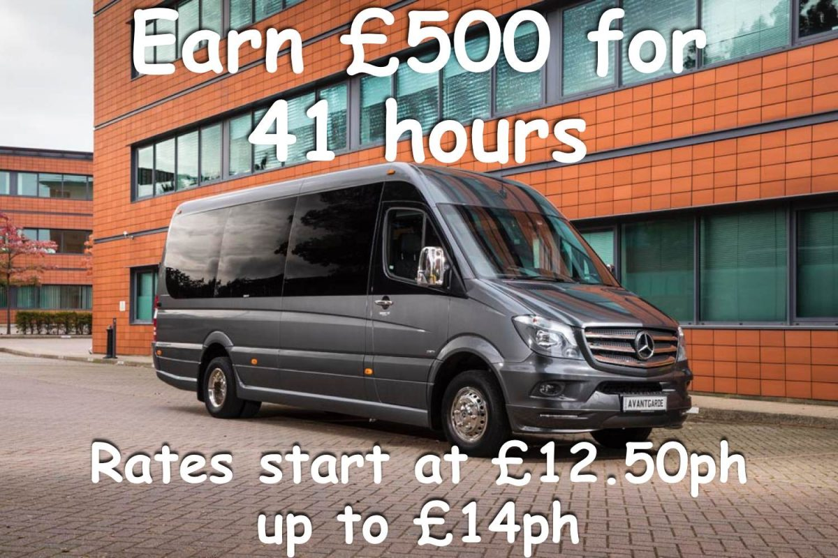Minibus and coach hire jobs available