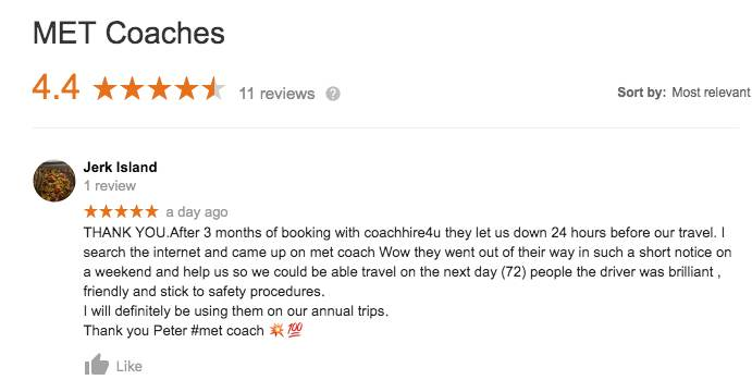 MET Google review