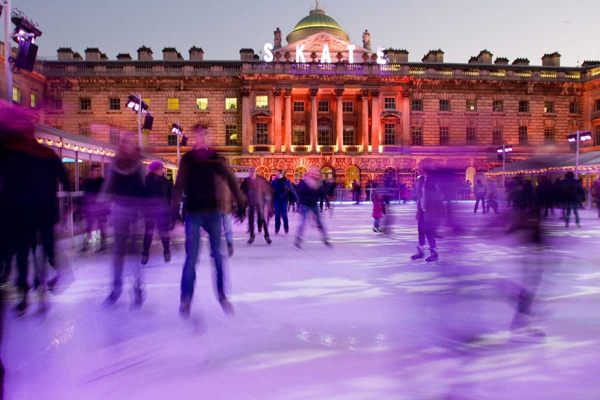 Beautiful Somerset house ice rink on December 26